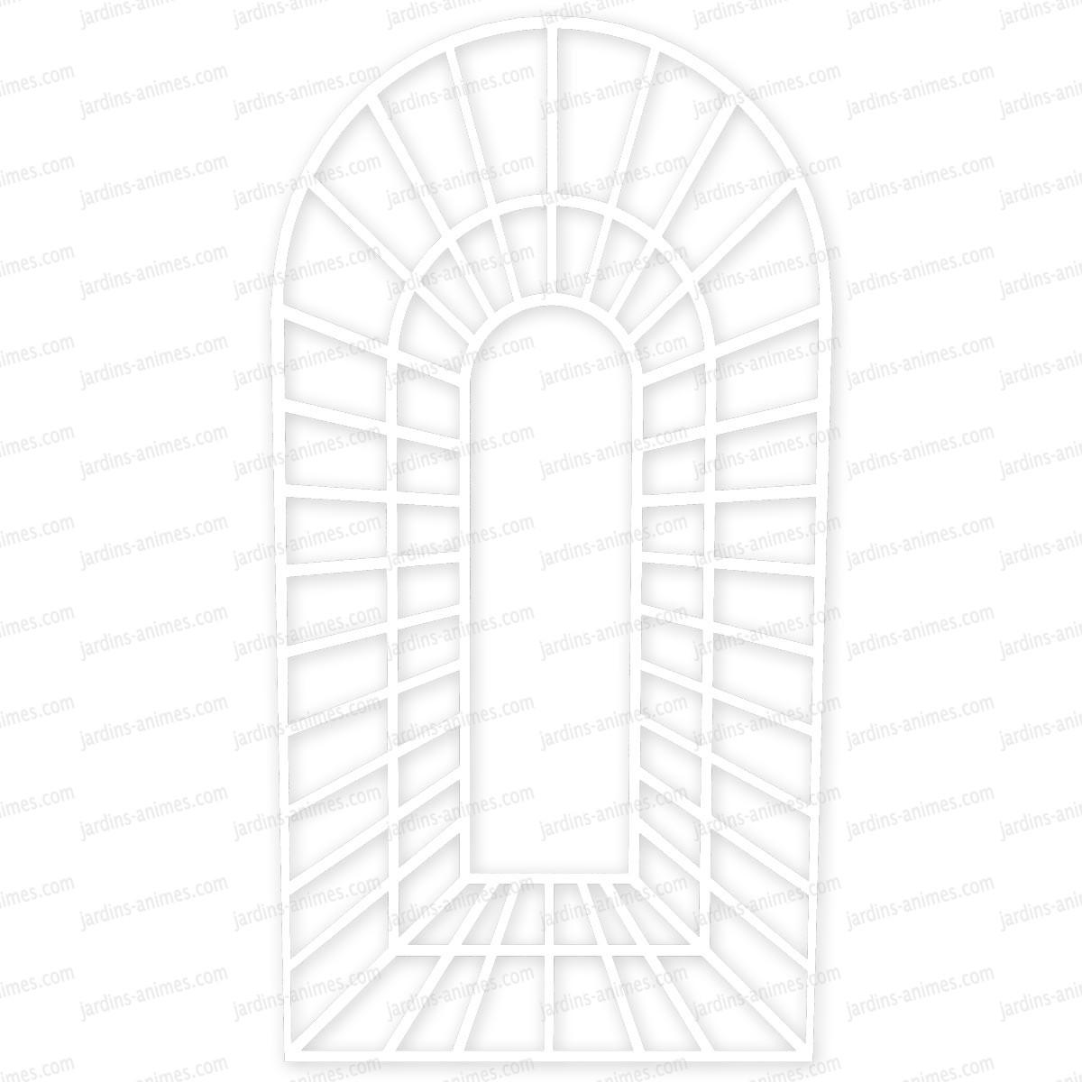 treillage trompe l 39 oeil x en bois peint en blanc treillages support grimpantes. Black Bedroom Furniture Sets. Home Design Ideas