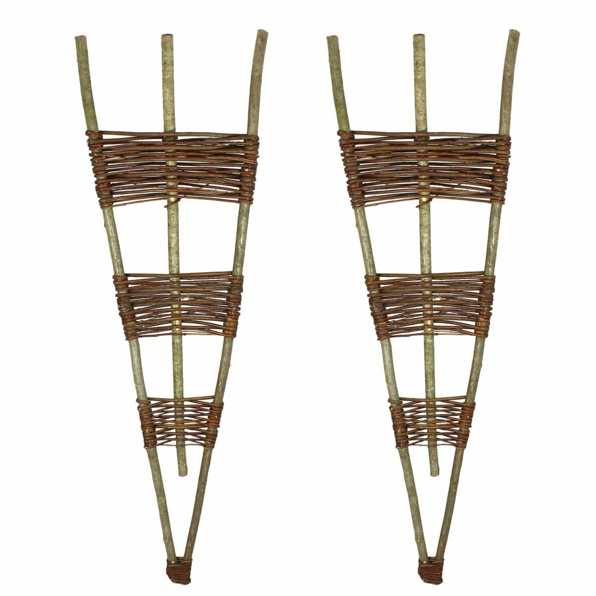 Treillis ventail en noisetier osier lot de 2 for Treillis support plante grimpante