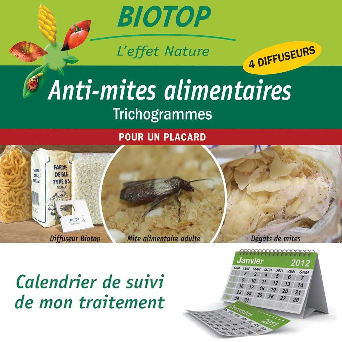 Comment Traiter Les Mites Dans Les Armoires trichogrammes, anti mites alimentaires - 1 boite (4 semaines)