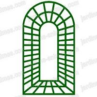 Treillage Trompe loeil 1.0m x 1.78m en bois vert
