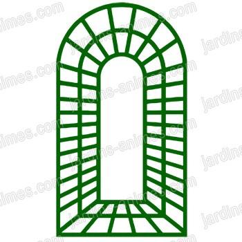 treillage trompe l 39 oeil x en bois vert treillages support grimpantes. Black Bedroom Furniture Sets. Home Design Ideas