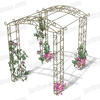 Tunnel rosier grimpantes arches kiosque et marquise for Support pour plantes grimpantes