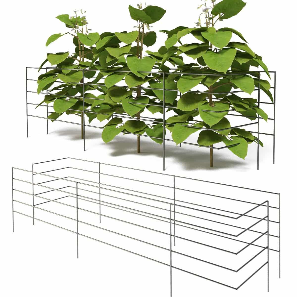 tuteur support 90cm pour haricot lot de 2 tuteurs de jardin. Black Bedroom Furniture Sets. Home Design Ideas