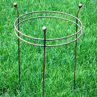 Tuteur rond 2 anneaux support pour plantes en fer - Pivoines et dahlias