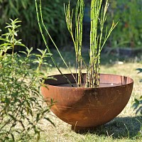 Vasque de jardin en métal d.50cm