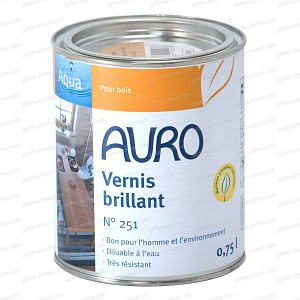 Vernis bio transparent brillant Auro 251 0.75L
