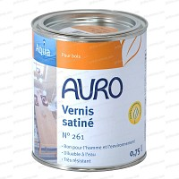 Vernis bio transparent satiné Auro 261 0.75L