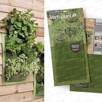Verti-Plant 3 poches<br>lot de 2- couleur Vert