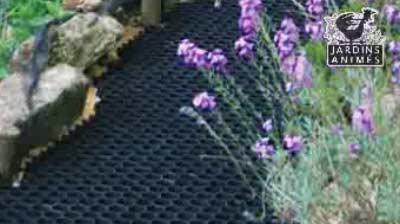 Stabilisateur de gravier drainant et 100% recyclable - Allée, chemin ...